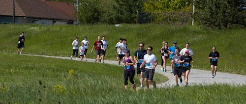 Event Photography Tim Horton Children's Foundation runners on track Run/Walk