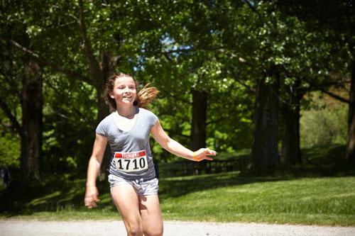 Event Photography child running at Tim Hortons Run/Walk