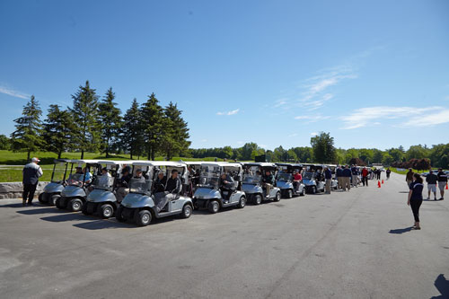 Charity Photography for Tim Horton Children's Foundation golf tournament golf carts lined up by BP imaging