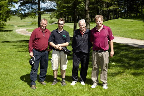 Charity Photography for Tim Hortons golf tournament group photo on course by BP imaging