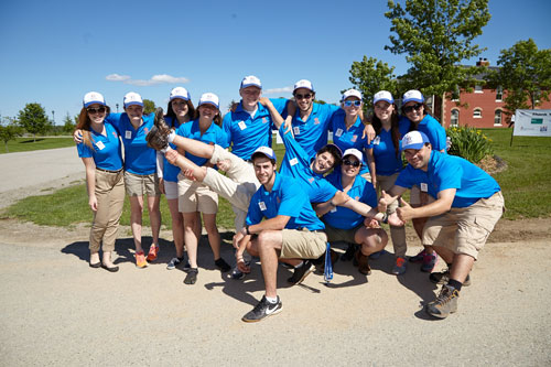 Charity Photography for Tim Hortons golf tournament THCF group photo by Bochsler Photo imaging