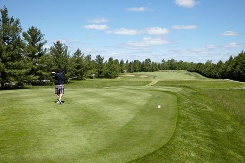 Event Photography for Tim Hortons golf tournament tee off by BP imaging