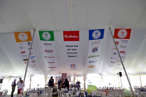 Event Photography for Tim Hortons golf tournament tent banners by BP imaging