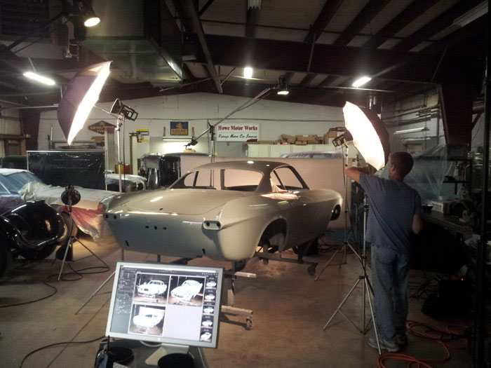 Authentic Car Photography 1966 Volvo P1800 at howe motor works by BP imaging