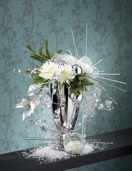 Floral Arrangement Photography for Annex Publishing white flower christmas arrangement in vase