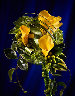 Floral Product Photography for Annex Publishing yellow wedding bouquet flower arrangement