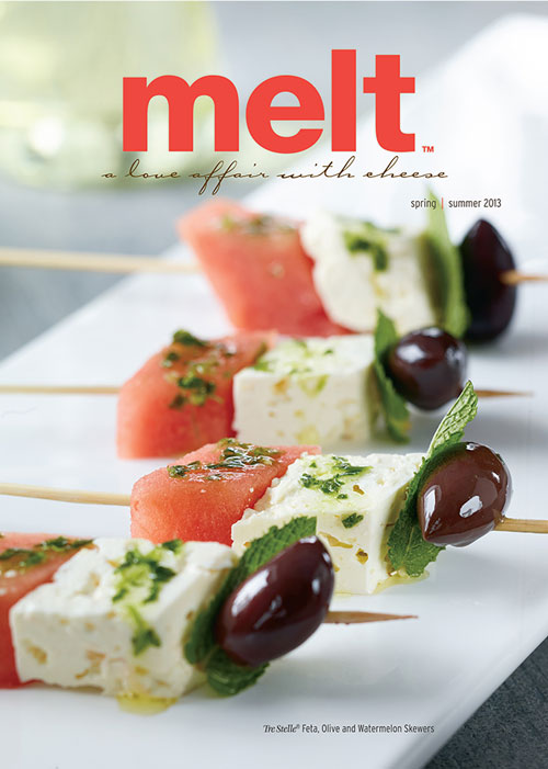 Food Photographers Melt Magazine Spring / Summer 2013 Tre Stelle Feta, Olive and Watermelon Skewers for OKD Marketing by BP imaging