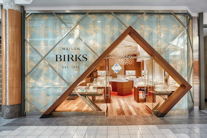 HDR imaging software Birks jewelry store storefront photography for Mapleview Shopping Centre