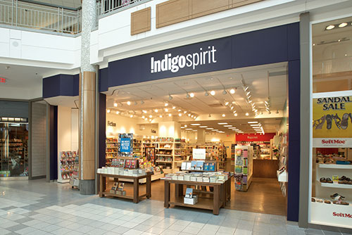 Indigo Spirit books storefront photography for Mapleview Mall Burlington Ontario BP imaging