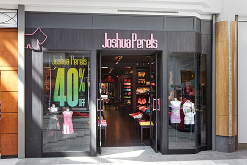 Joshua Perets teen clothing accessories storefront photography for Mapleview Mall Burlington Ontario Bochsler commercial photography