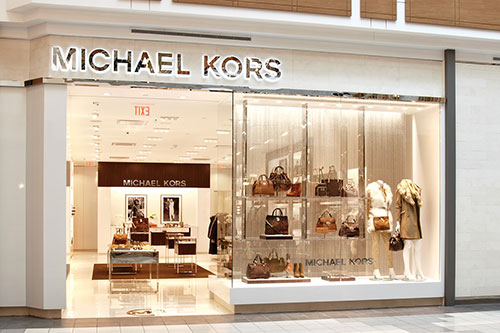 Michael Kors accessories jewelry storefront photography for Mapleview Centre Burlington Ontario BP imaging