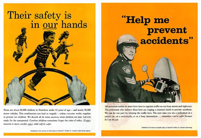 Advertisement Photography for Traffic Safety Police Services Series Advertisements Photographed By Tom Bochsler