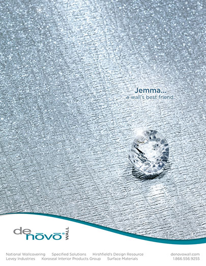 Marketing photography of DeNovo wall covering Jemma advertisement BP imaging