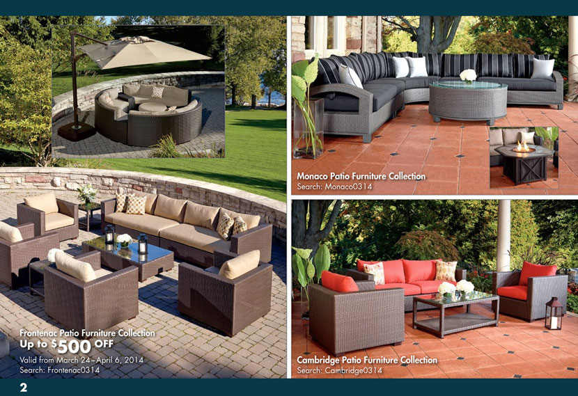 Furniture Photography Displayed In Costco Online Flyer