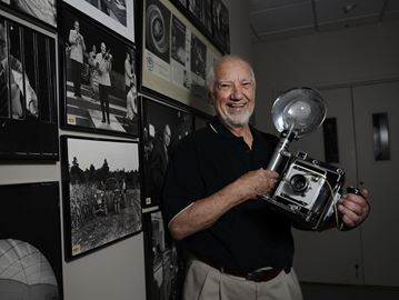 BP imaging founder Tom Bochsler at the photography studio for his 500,000 negatives donation