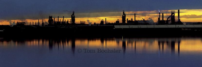 BP imaging Tom Bochsler The Art of Industry Dofasco skyline landscape in 1971