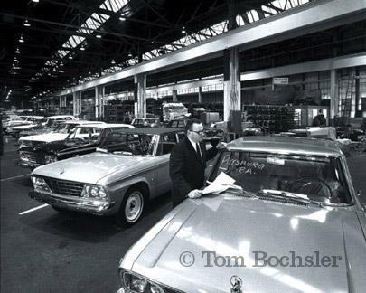 BP imaging Tom Bochsler car production photography Studebaker factory Hamilton Ontario in 1960
