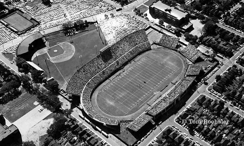 Tom Bochsler's aerial photograph of Civic Stadium from 1960