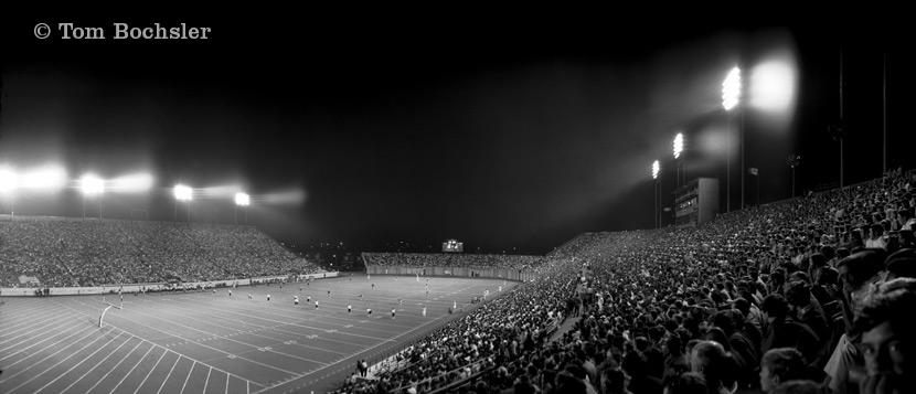 Tom Bochsler night photography Hamilton Ivor Wynne Stadium from 1971