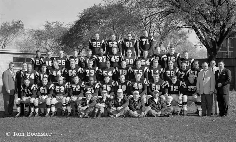 Tom Bochsler photograph of Hamilton Tiger-Cats team photo from 1960