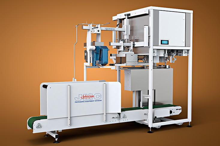 3D Rendering Image of detailed industrial packaging machine