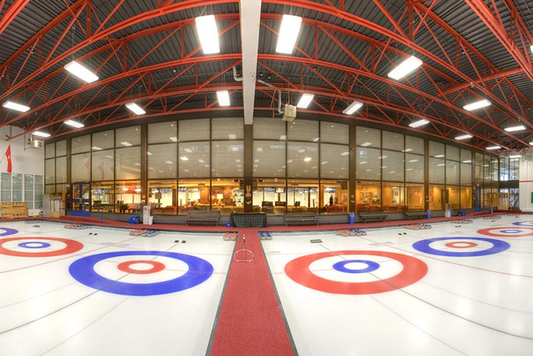 360 degree view Curling Arena
