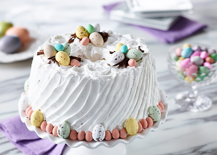 Toronto Recipe Photography and development of Vanilla Chiffon Cake for Easter promotion of Egg Farmers