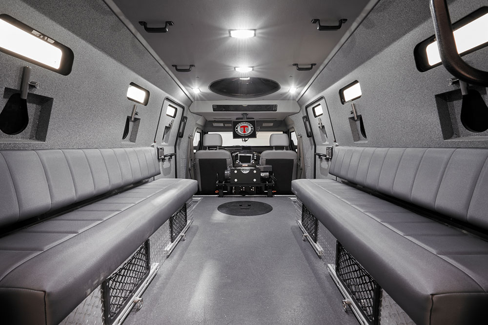 Interior photography of armoured Halton Police BP imaging