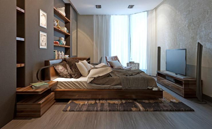 Retouch bedroom flooring before by BP imaging