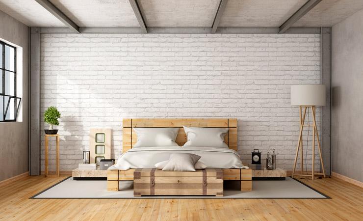Retouch bedroom loft flooring before by BP imaging