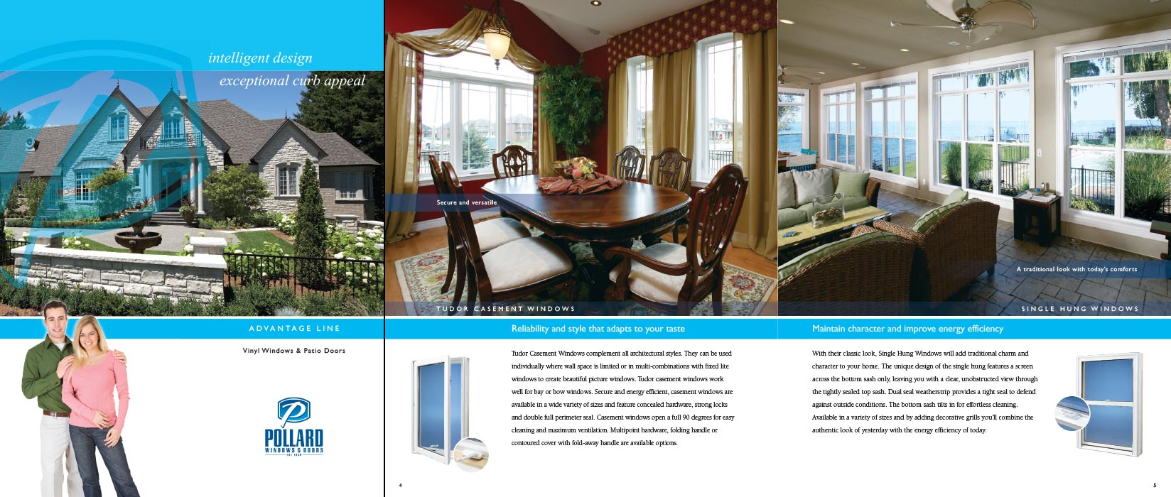 Architectural Photography Of Brochure Advertisement With Windows And  Interior Design Room Settings For Pollard Windows