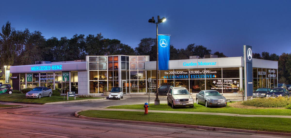 exterior architectural photography. Burlington Exterior Architectural Photography Of Mercedes Benz Car Dealership
