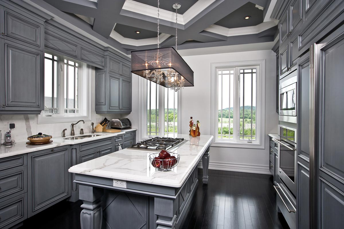 Interior Architectural Photography Of Modern Technology Grey Kitchen