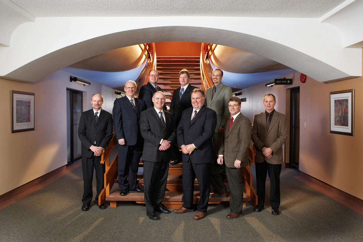 Team Portrait Photography of executive on staircase at workplace