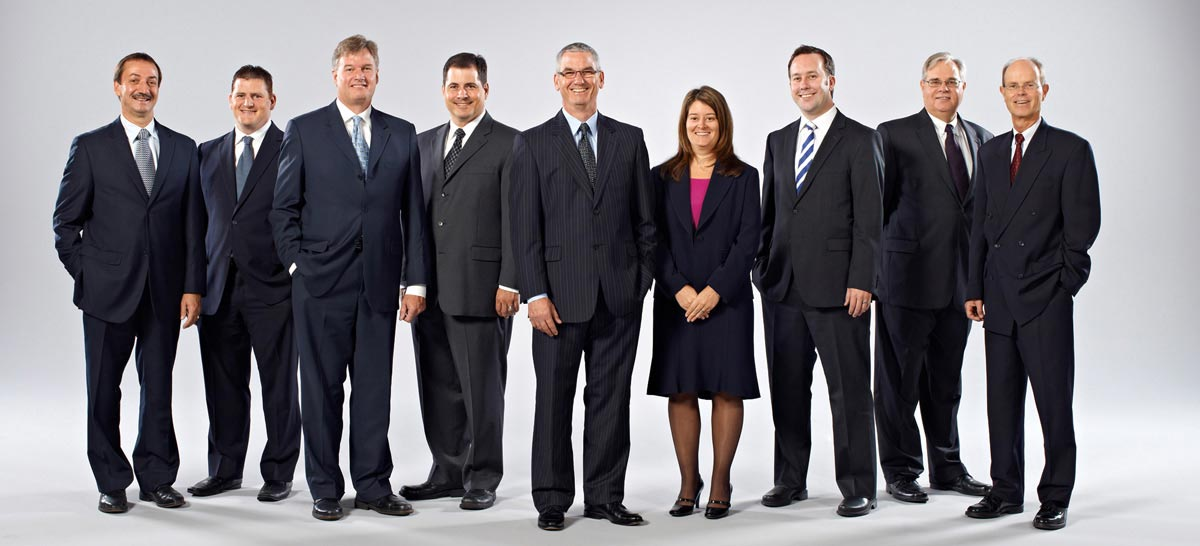 Team Portrait Photography of executive team in formal dress