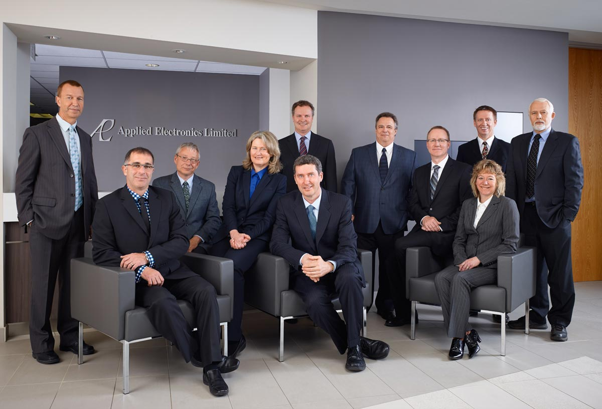 Executive Group Portrait Photographer of executive professionals for Applied Electronics Limited