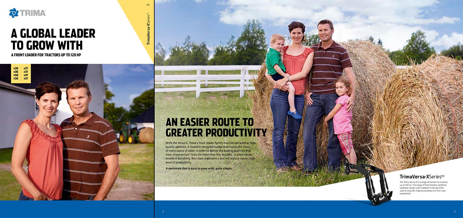 Family Portrait Photography of farm members in field