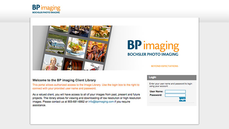 Professional Photography client image library
