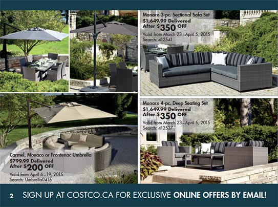 Patio Furniture Photography For Costco Online Flyer March April 2017