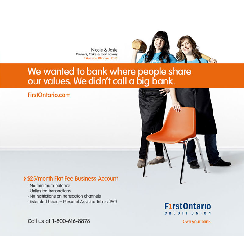 Burlington group lifestyle portrait photography for FirstOntario Credit Union and Play Advertising