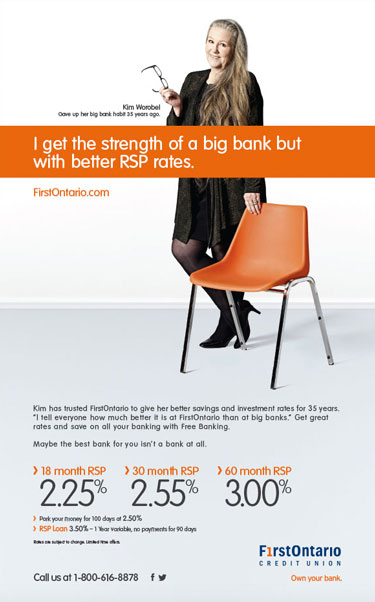 Toronto studio lifestyle portrait photographer for FirstOntario Credit Union and Play Advertising