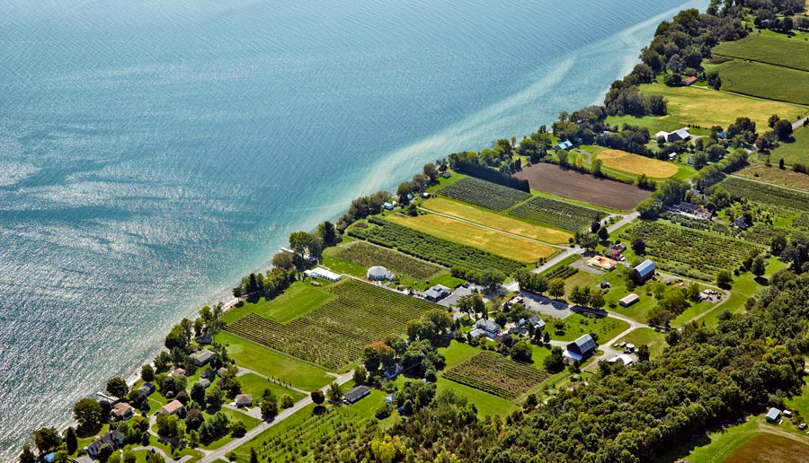 Winery aerial photography Prince Edward County for Wine Country Ontario