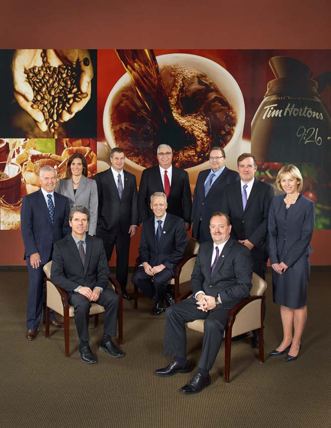 Portrait photography of executive team for Tim Hortons