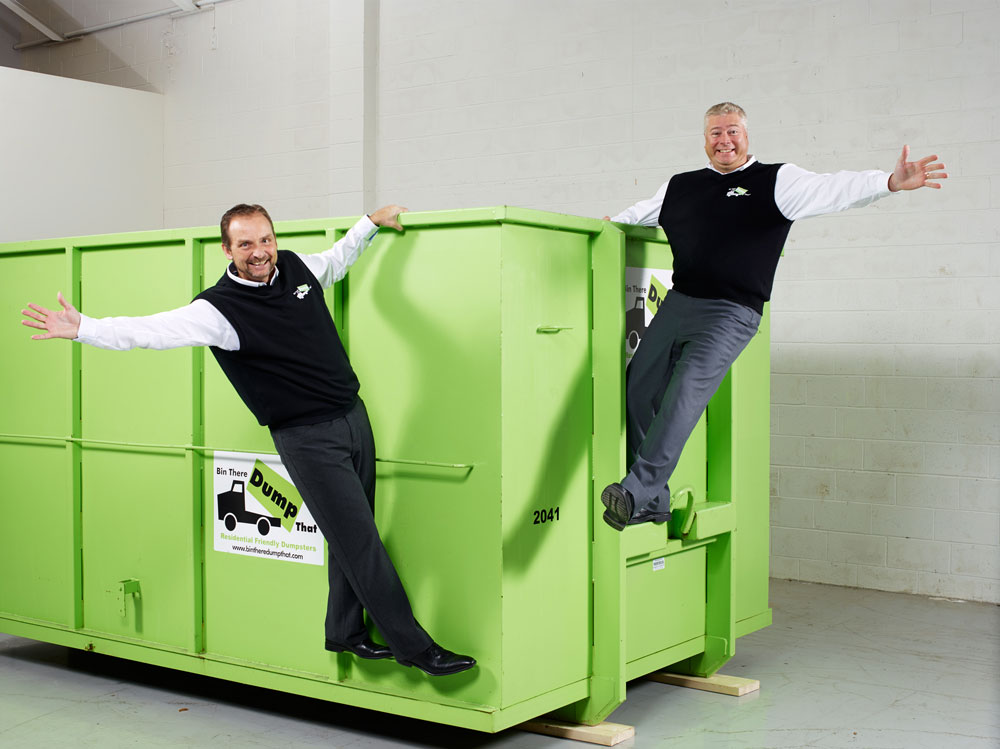 Portrait photography of parnters for Bin There Dump That