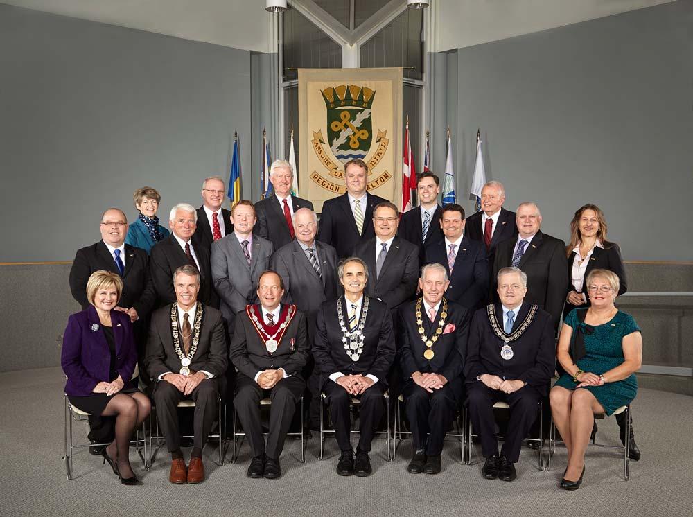 Portrait photography of political group for Region of Halton