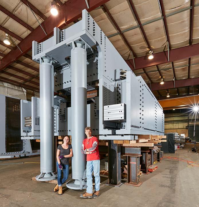 Tuned mass damper industrial photographer equipment