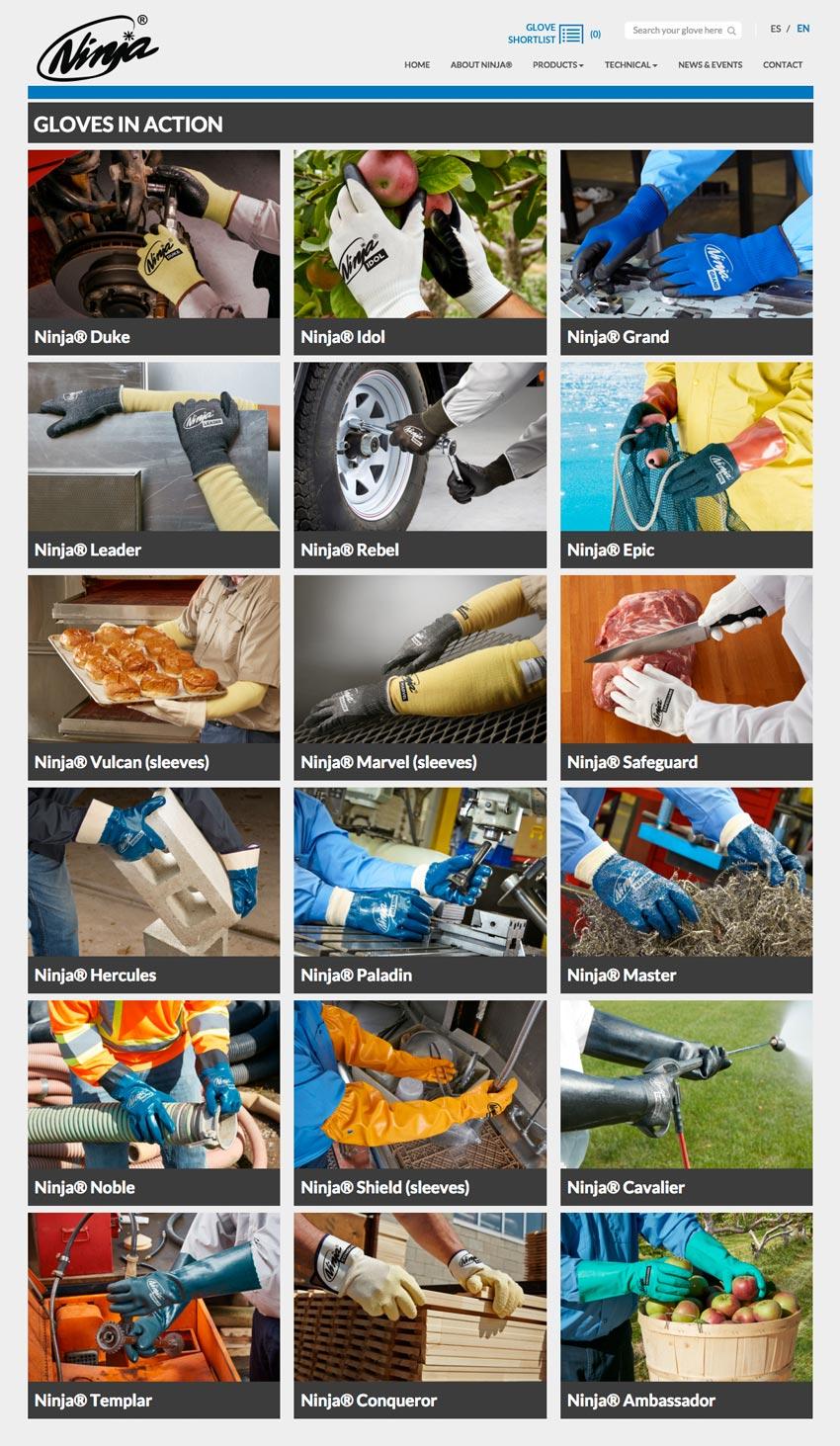 Midas Safety Ninja glove photography action on location