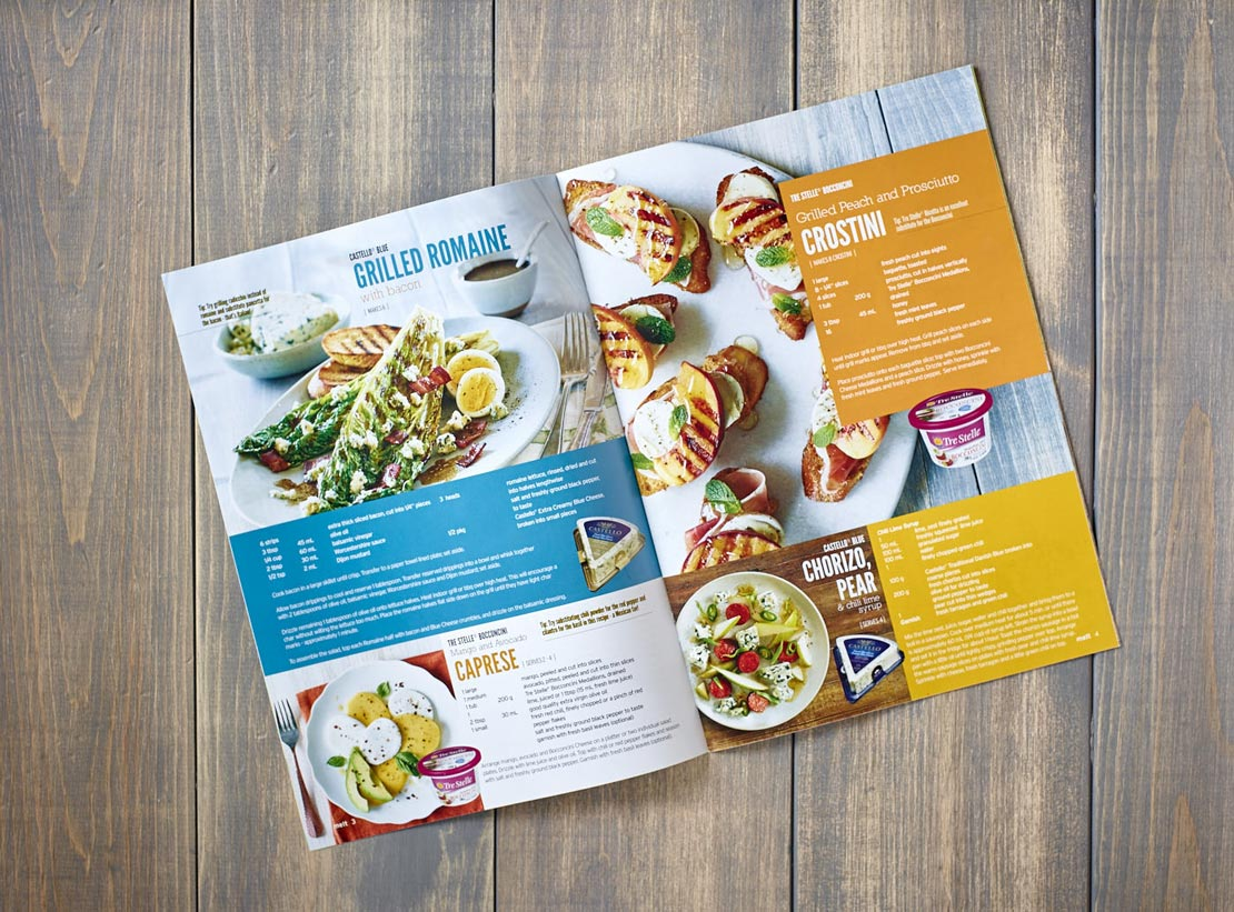 Food photography appetizers in Tre Stelle's Melt Magazine Spring/Summer 2016