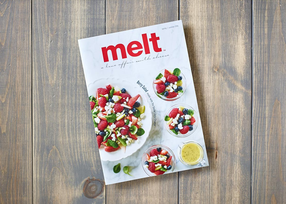 Melt Magazine Spring/Summer 2016 cover shot of berry salad