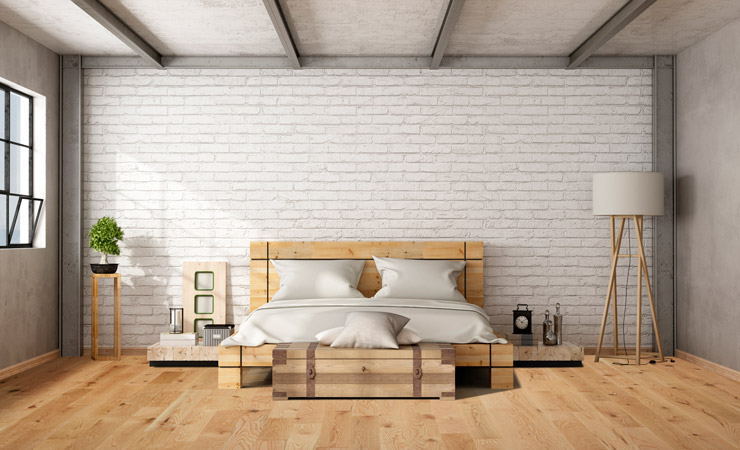 Retouch bedroom loft flooring after by BP imaging